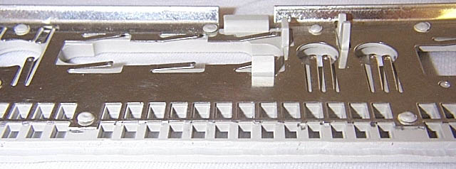 close-up of shielding removal